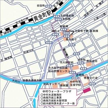 中村ウォータープラザ地図